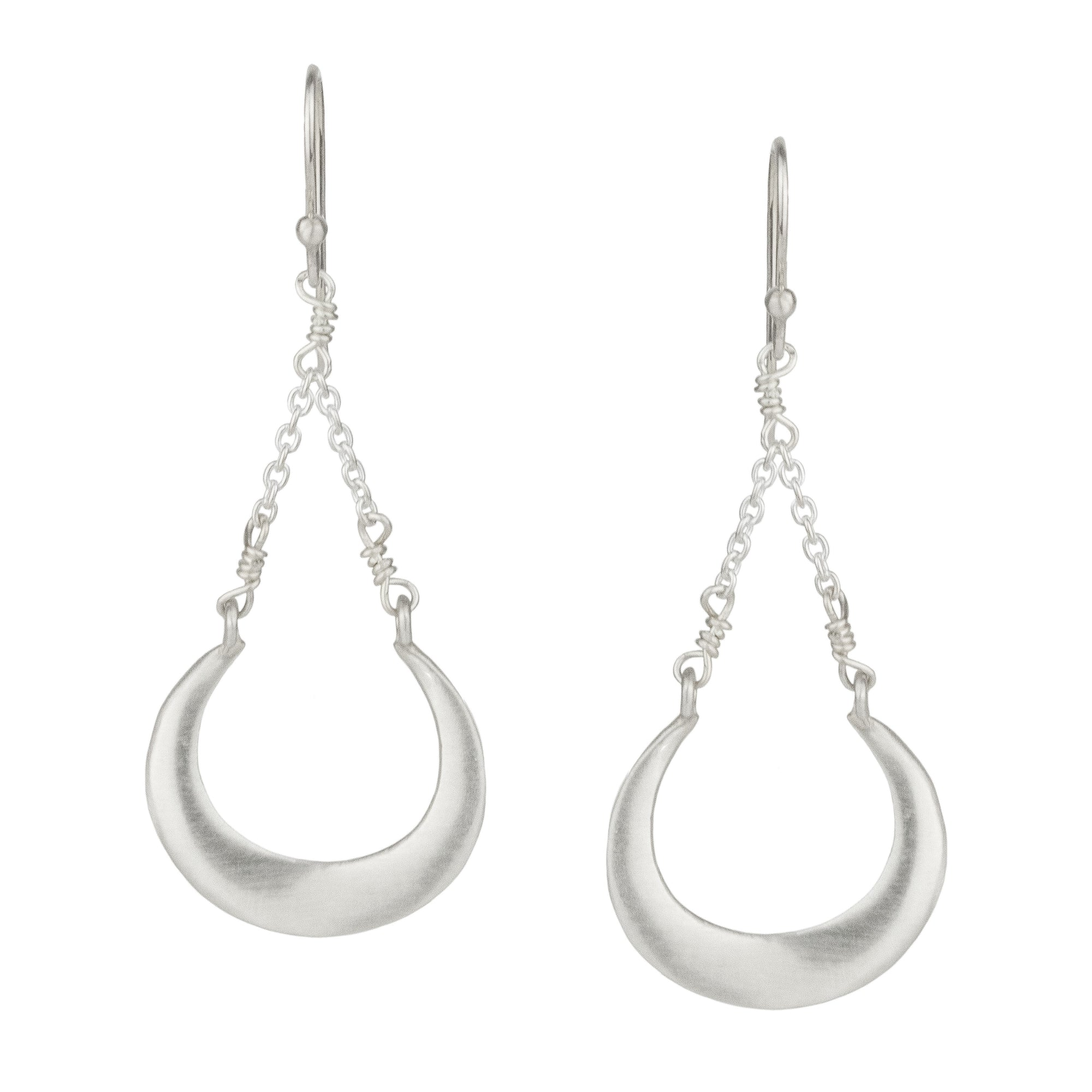 Open Horseshoe Drop Earrings