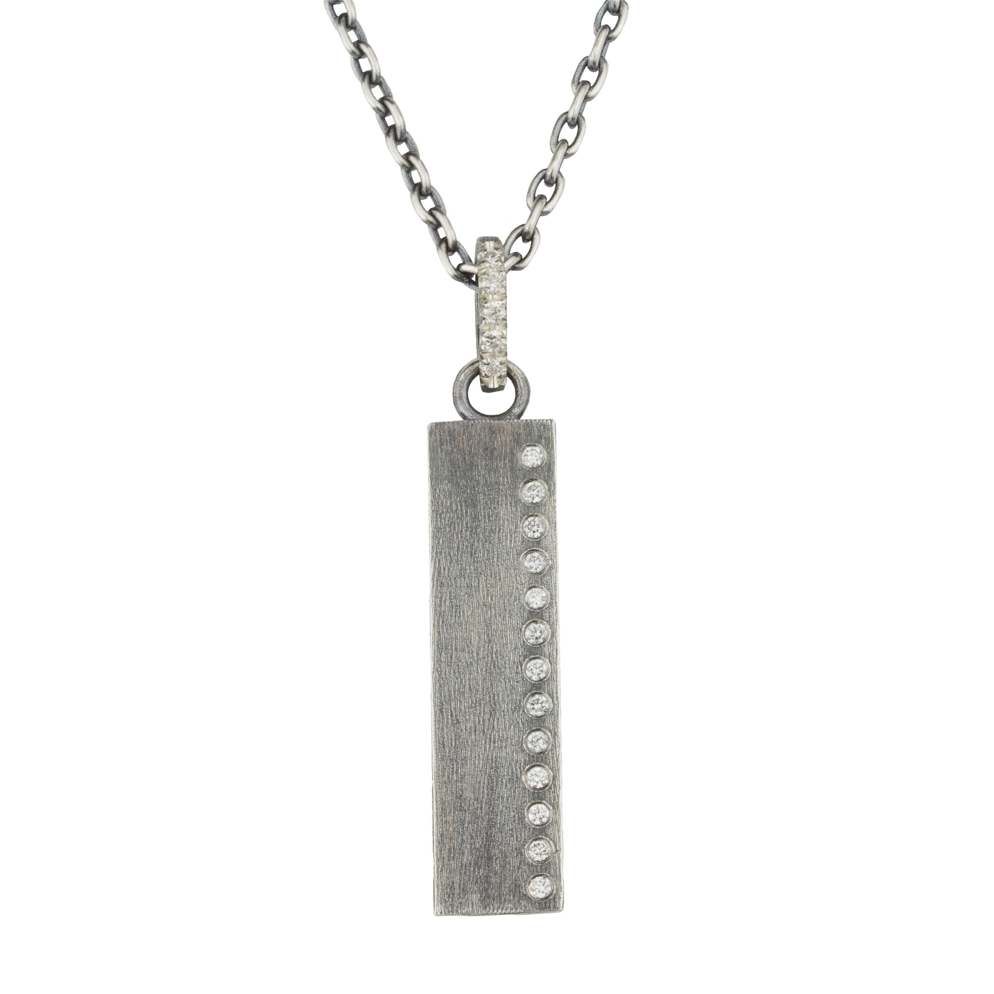 Adam Diamond Tag Necklace