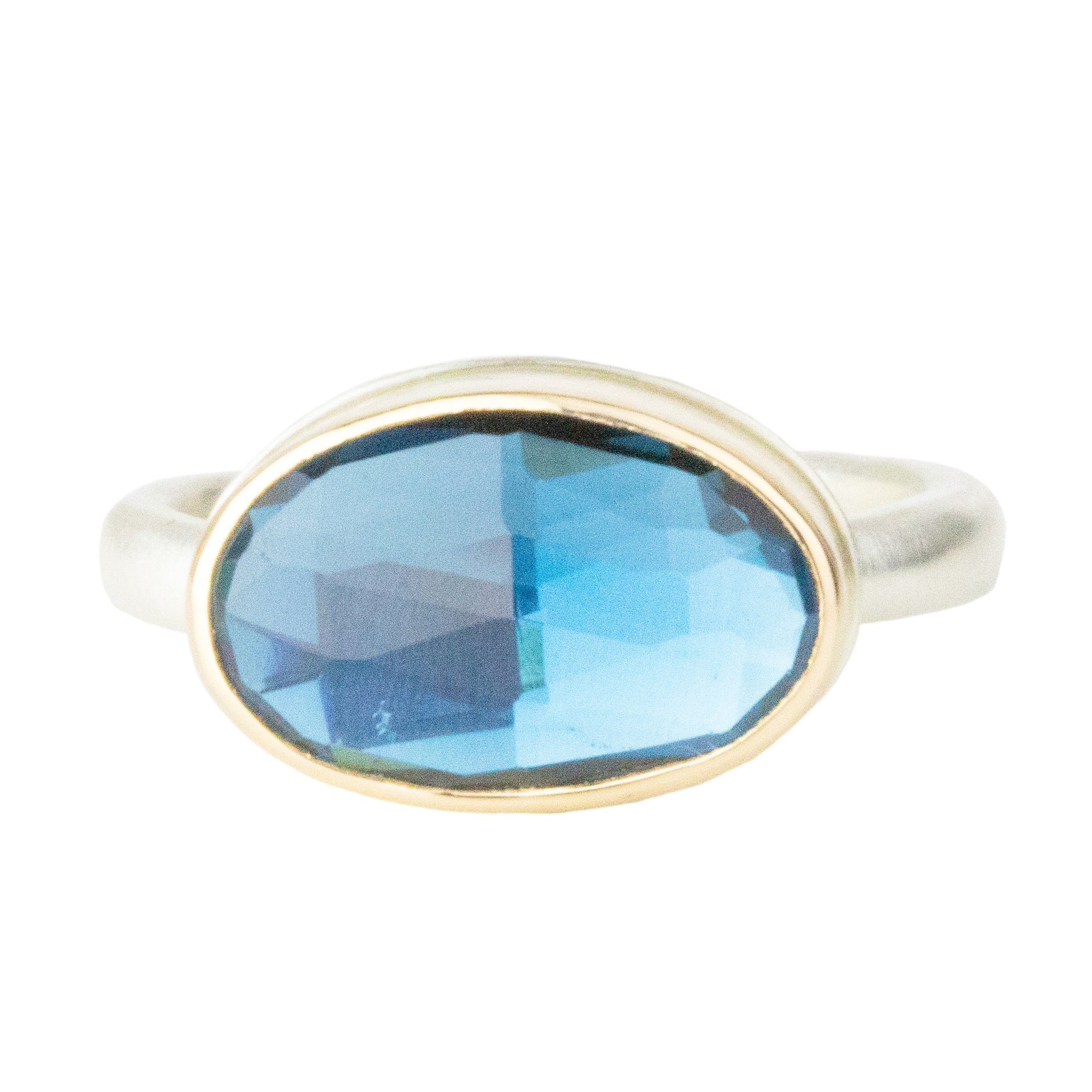 Small London Blue Topaz Ring