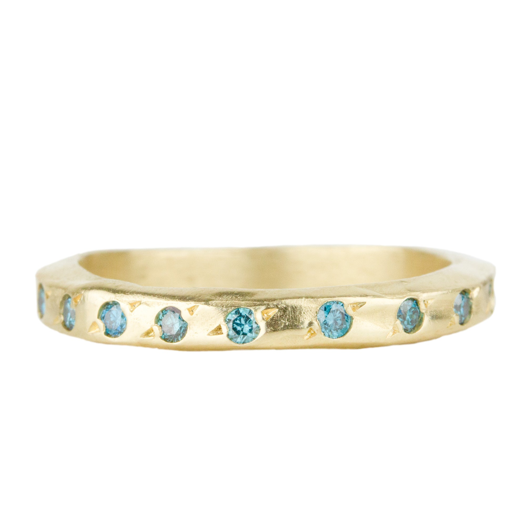 Narrow Blue Diamond Band