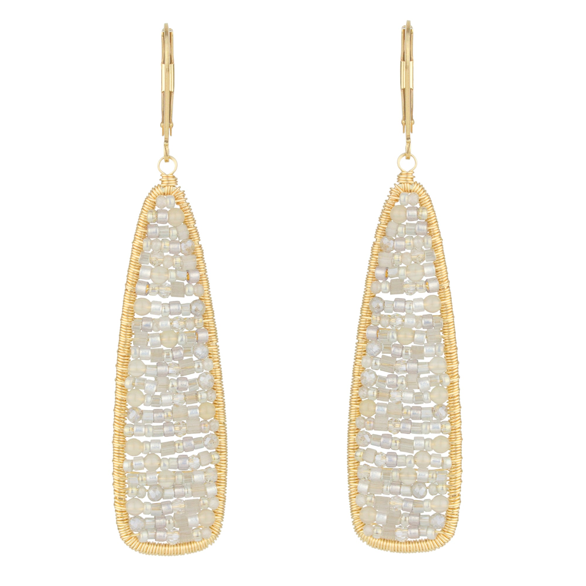 Moonstone Mosaic Earrings