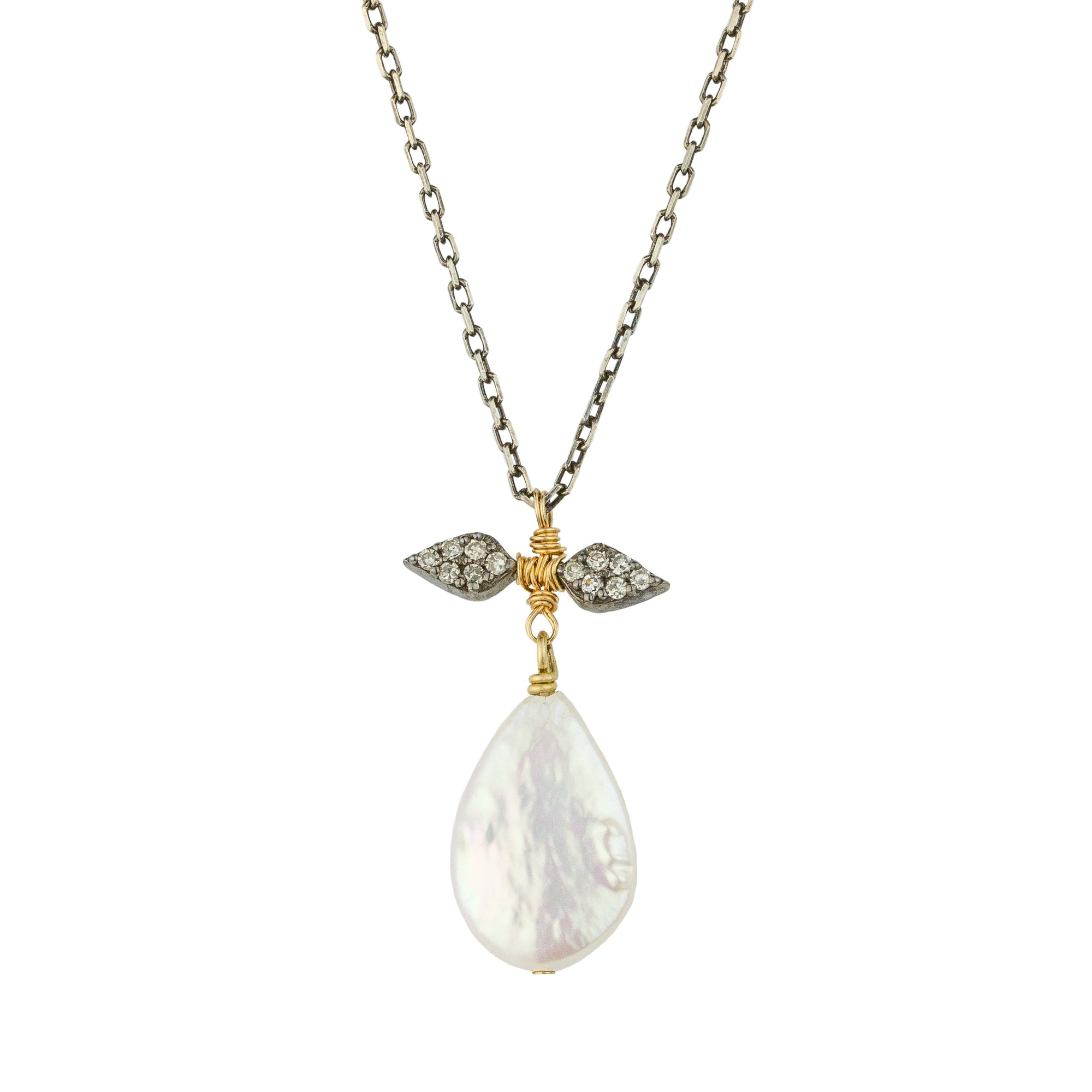 Pearl Floret Diamond Necklace