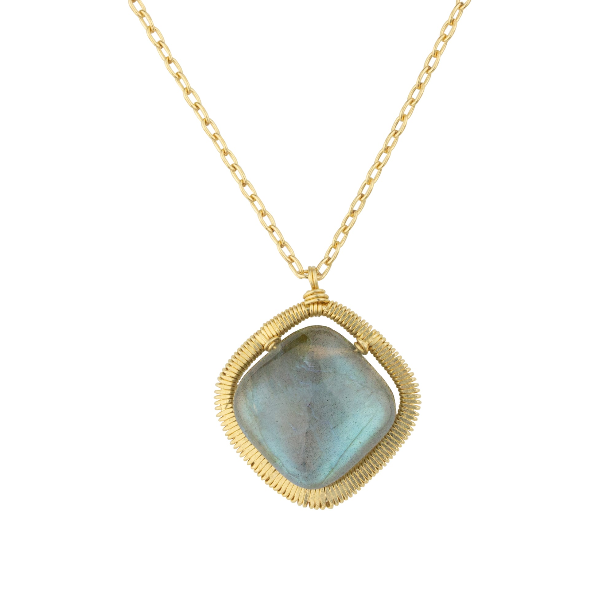 Square Labradorite Necklace