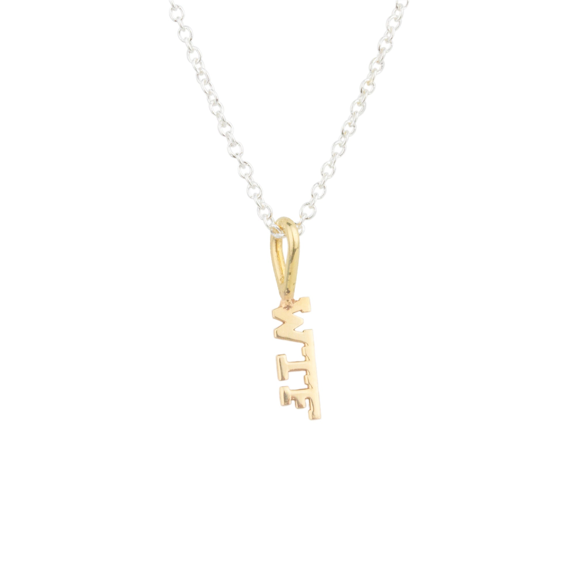 "Word ""WTF"" Necklace"
