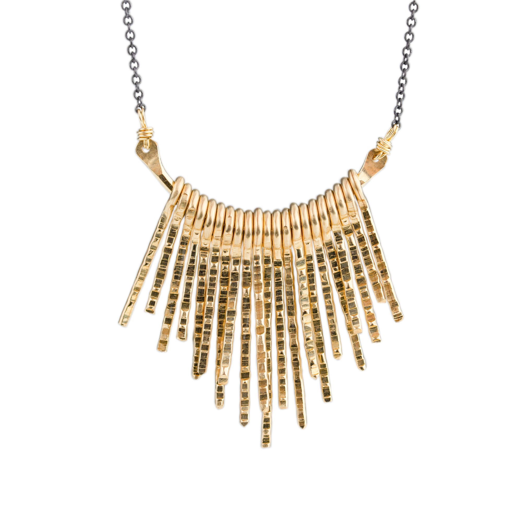 Curved Fringe Necklace