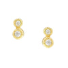 Double Diamond Stud Earrings