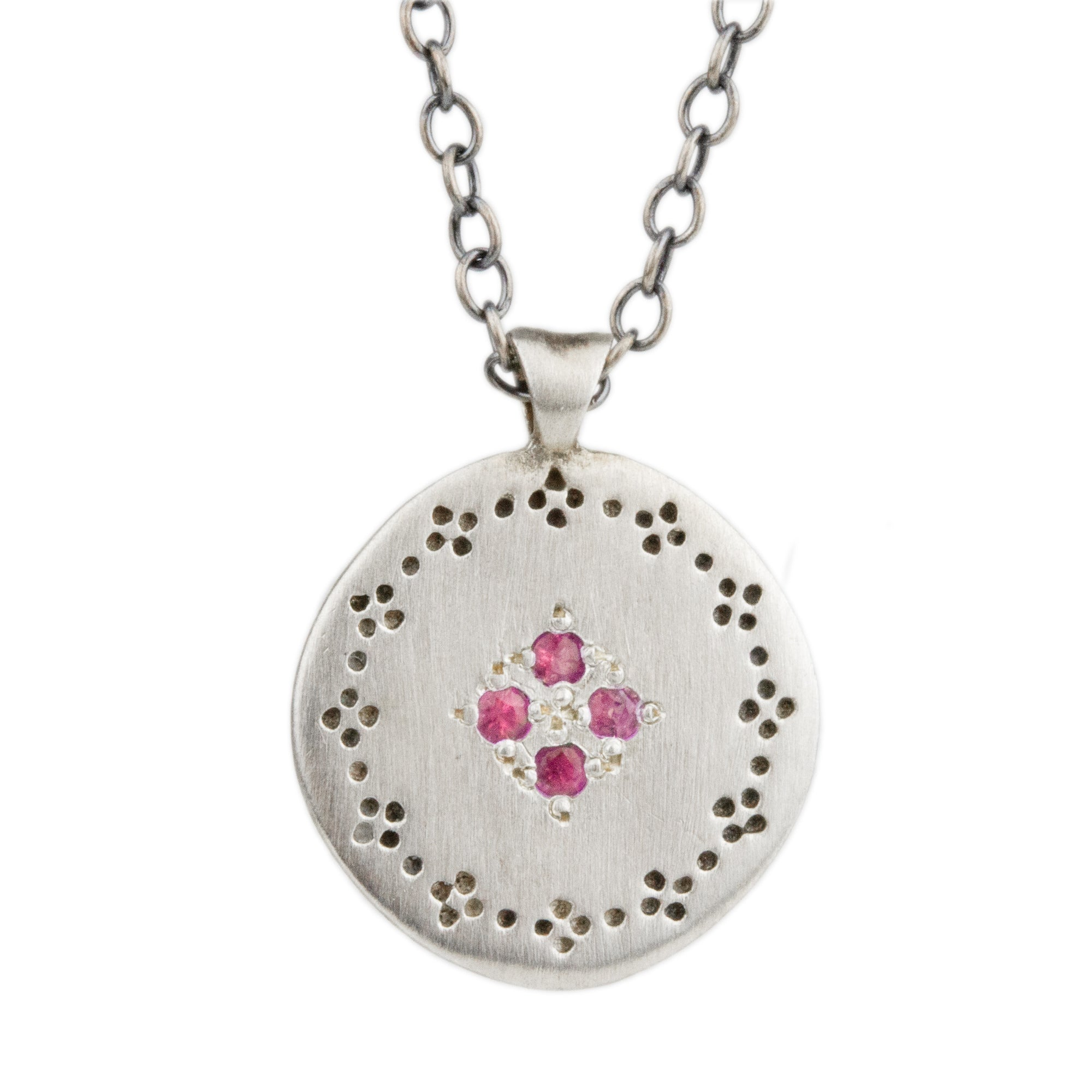 Four Star Pink Sapphire Necklace