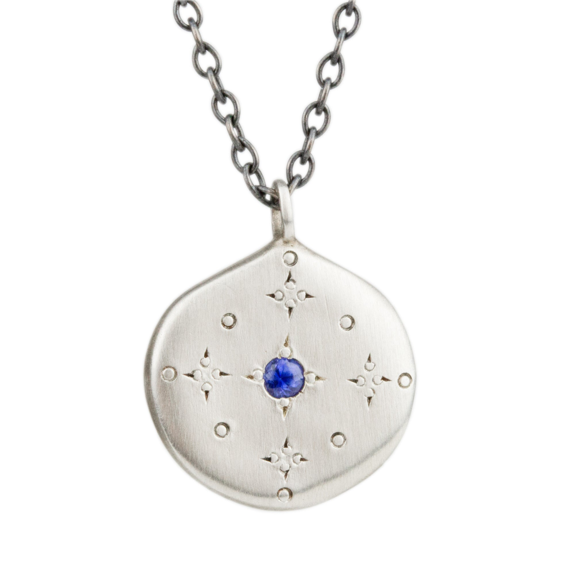 New Moon Blue Sapphire Necklace
