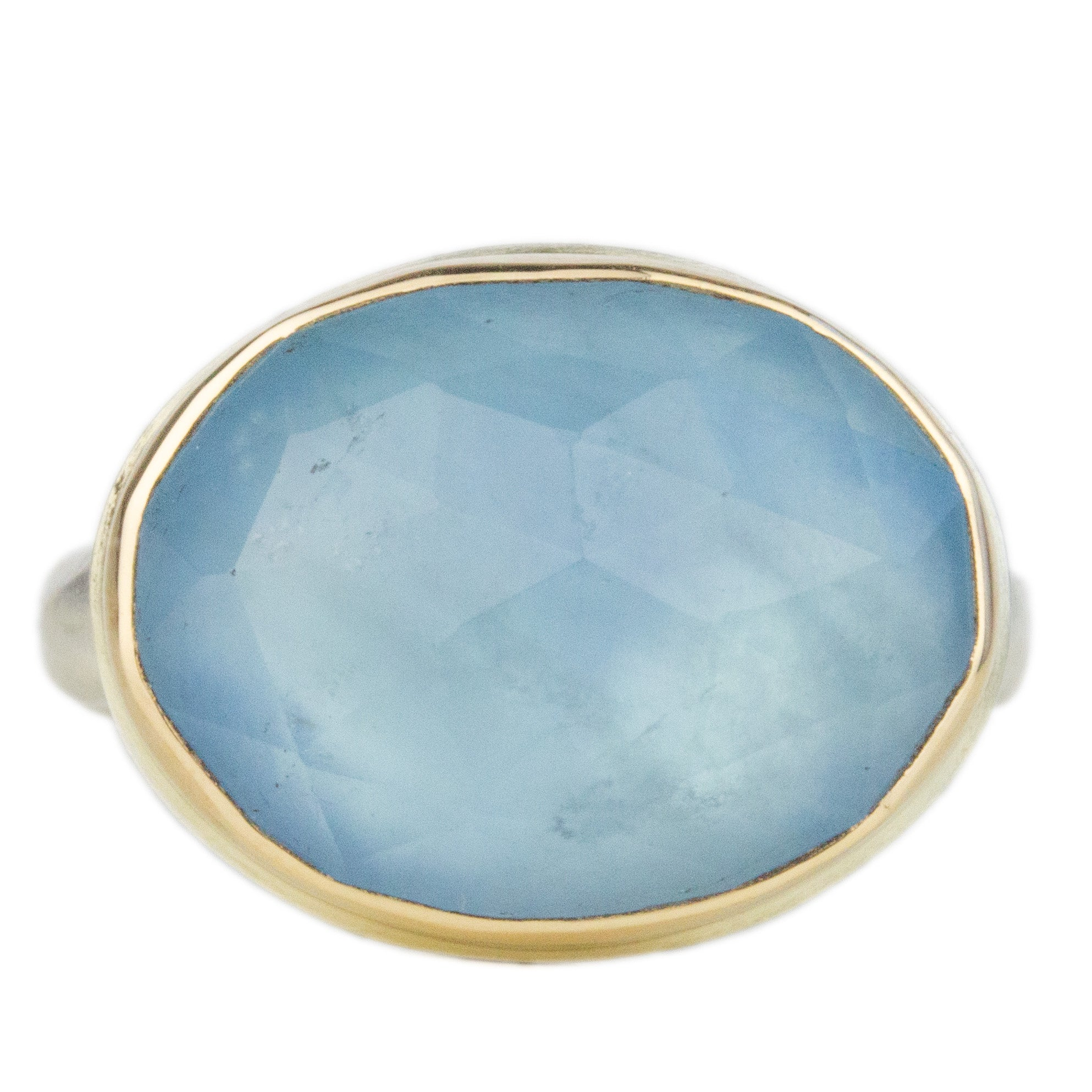 Glowing Aquamarine Ring