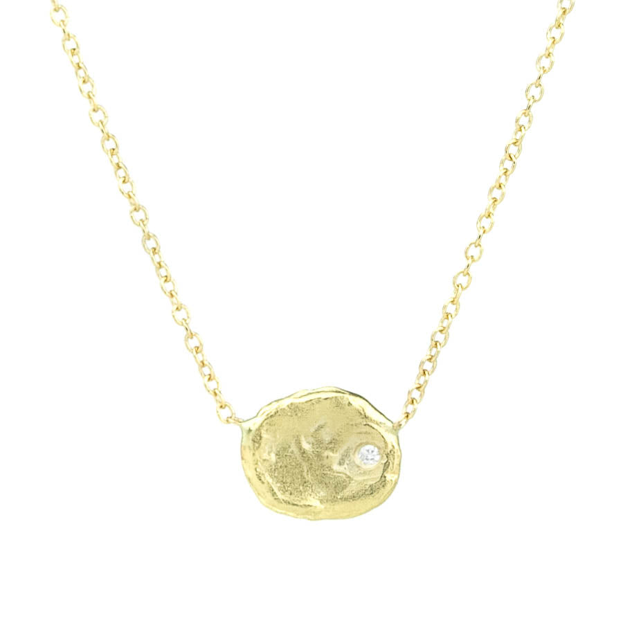 Single Gold Flake Necklace