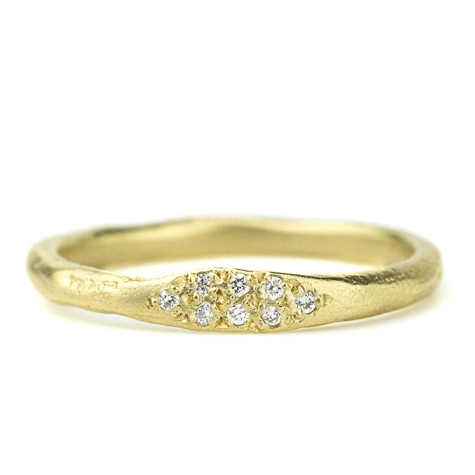 Diamond Top Stack Ring