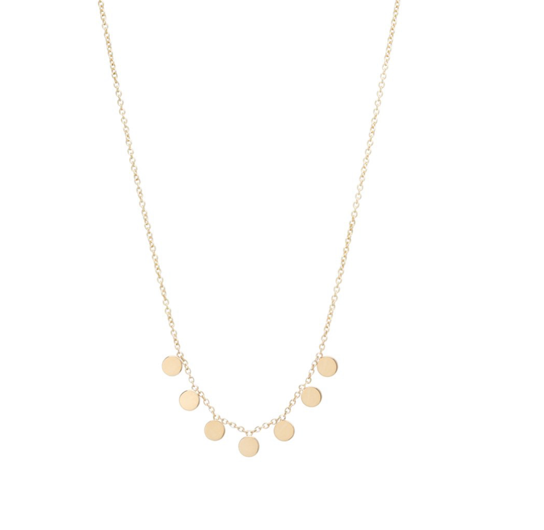 7 Itty Bitty Paillette necklace