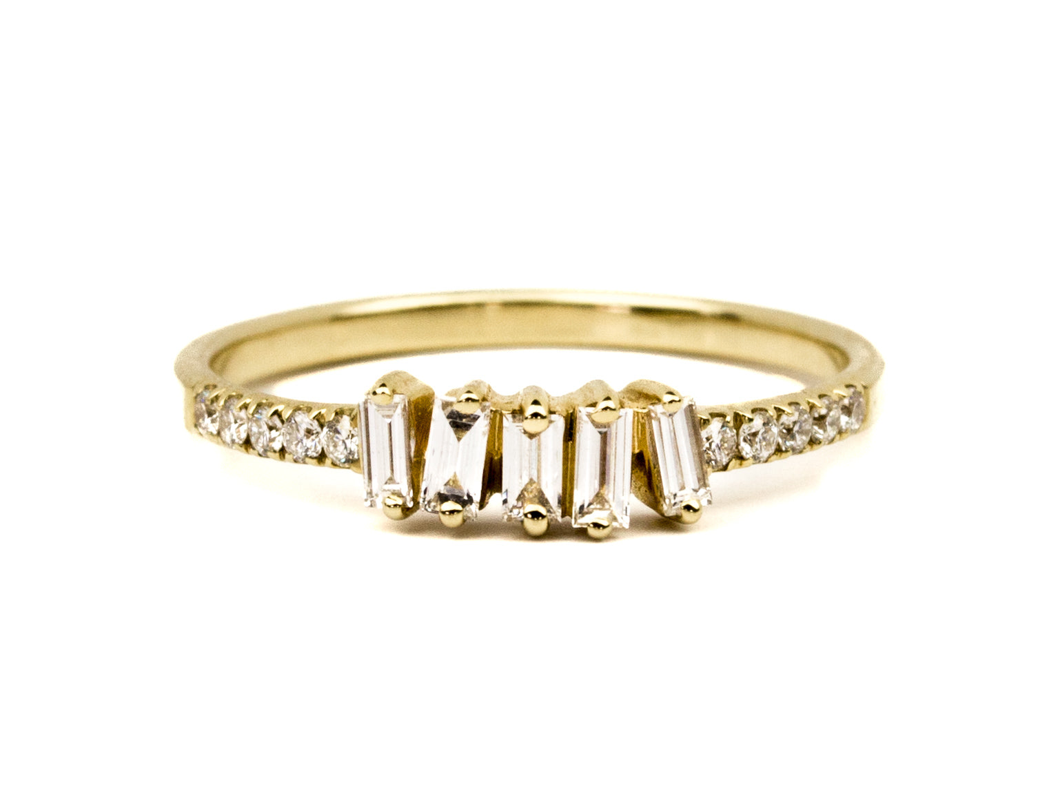 Dancing Baguettes & Pavé Diamond Ring