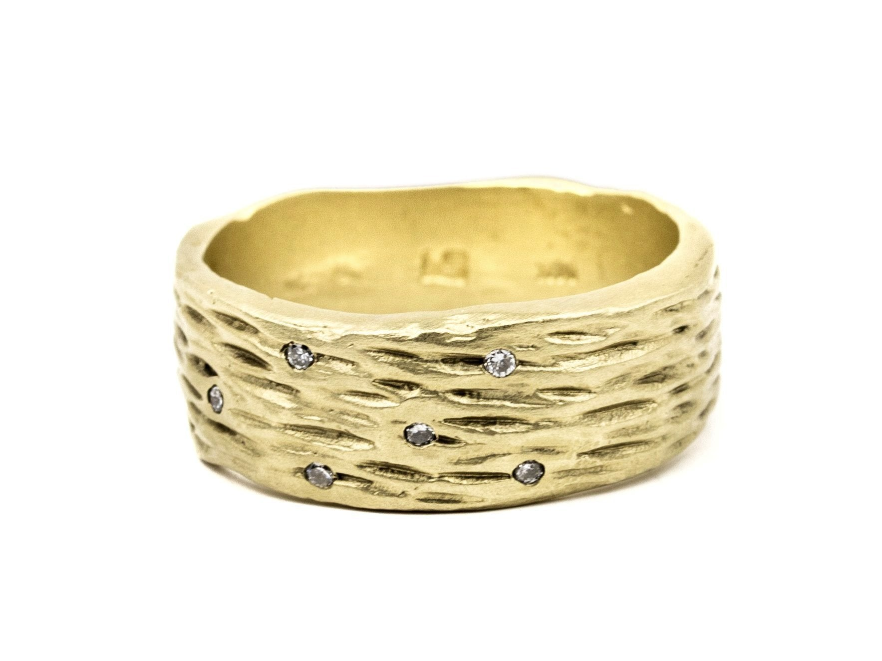 Birch Bark Diamond Ring