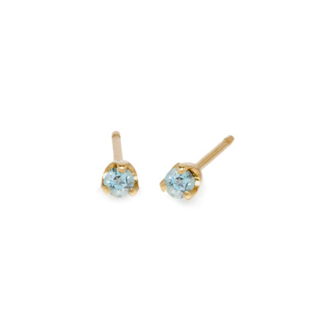 Aquamarine Prong Stud Earrings