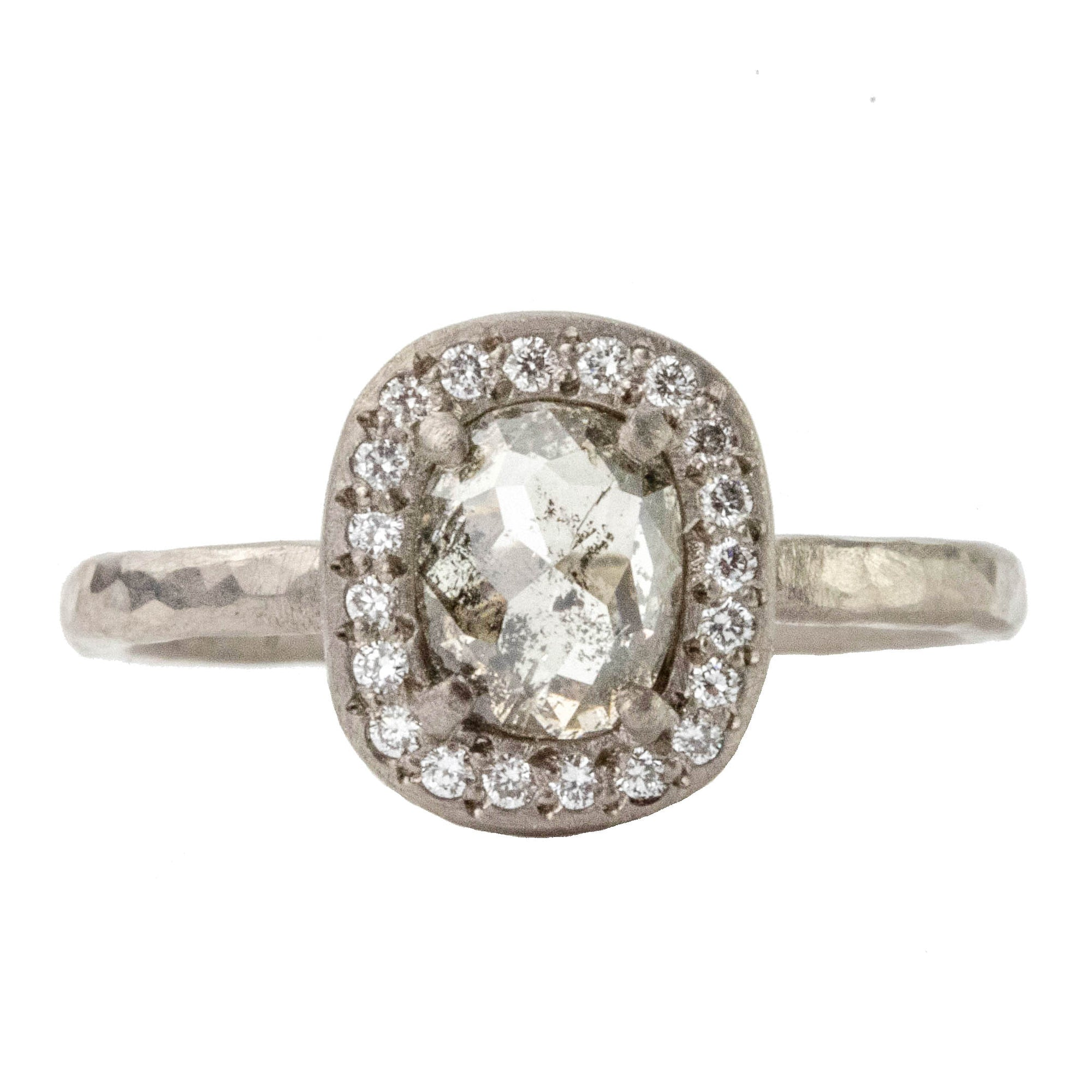 Brown Salt & Pepper Diamond Ring