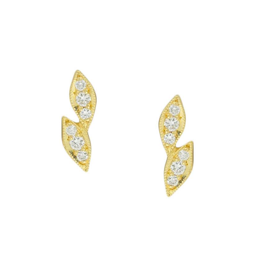 Double Leaf Post Earrings