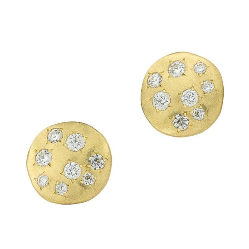 Dew Disc Post Earrings