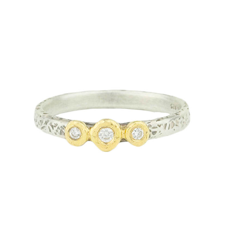 3 Bezel Diamond Ring