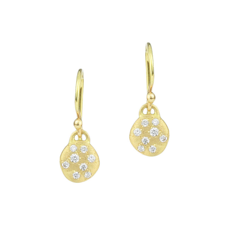 Dew Disc Drop Earrings