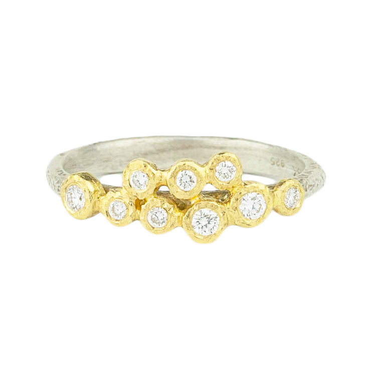 9 Bezel Diamond Ring