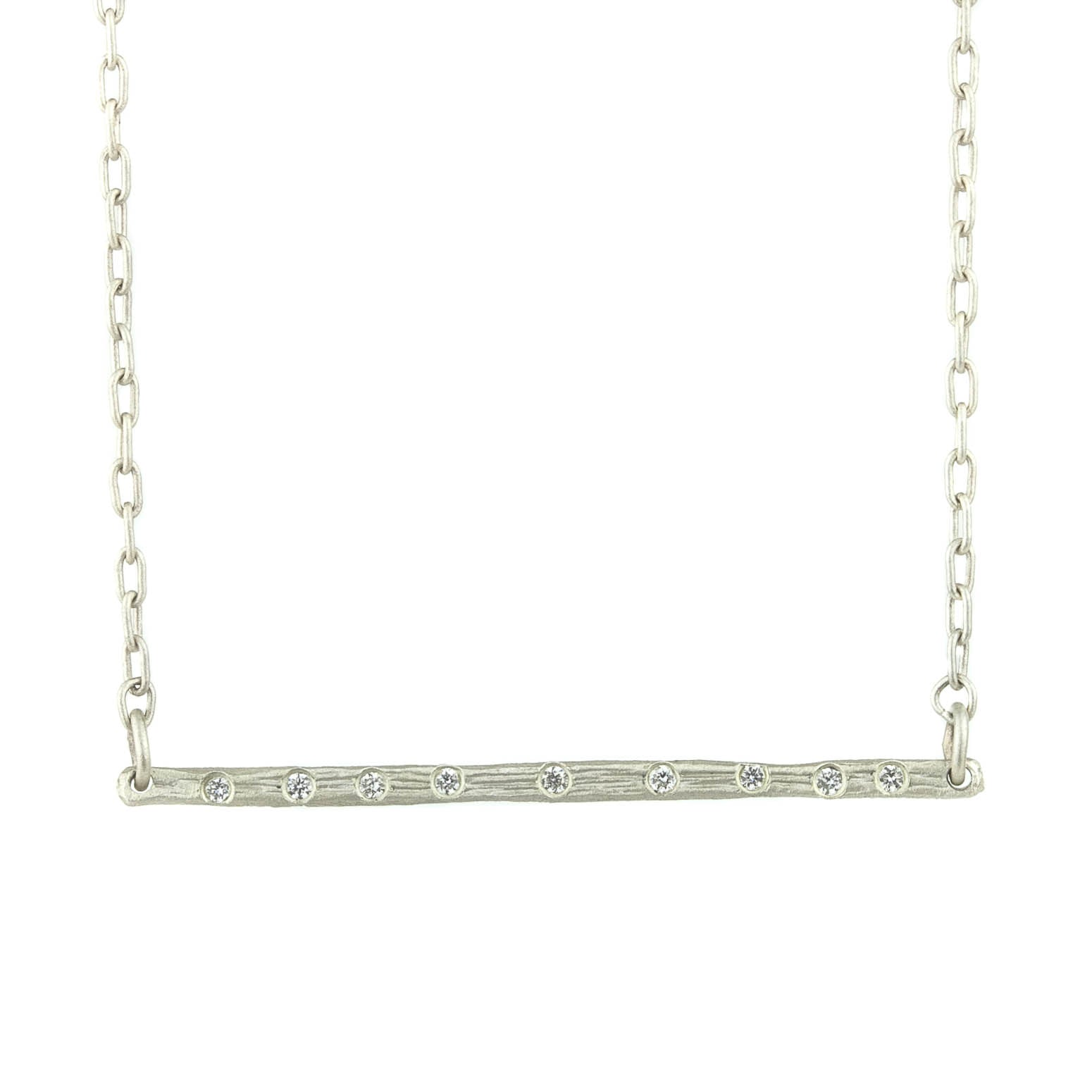 Bark Stix Diamond Necklace