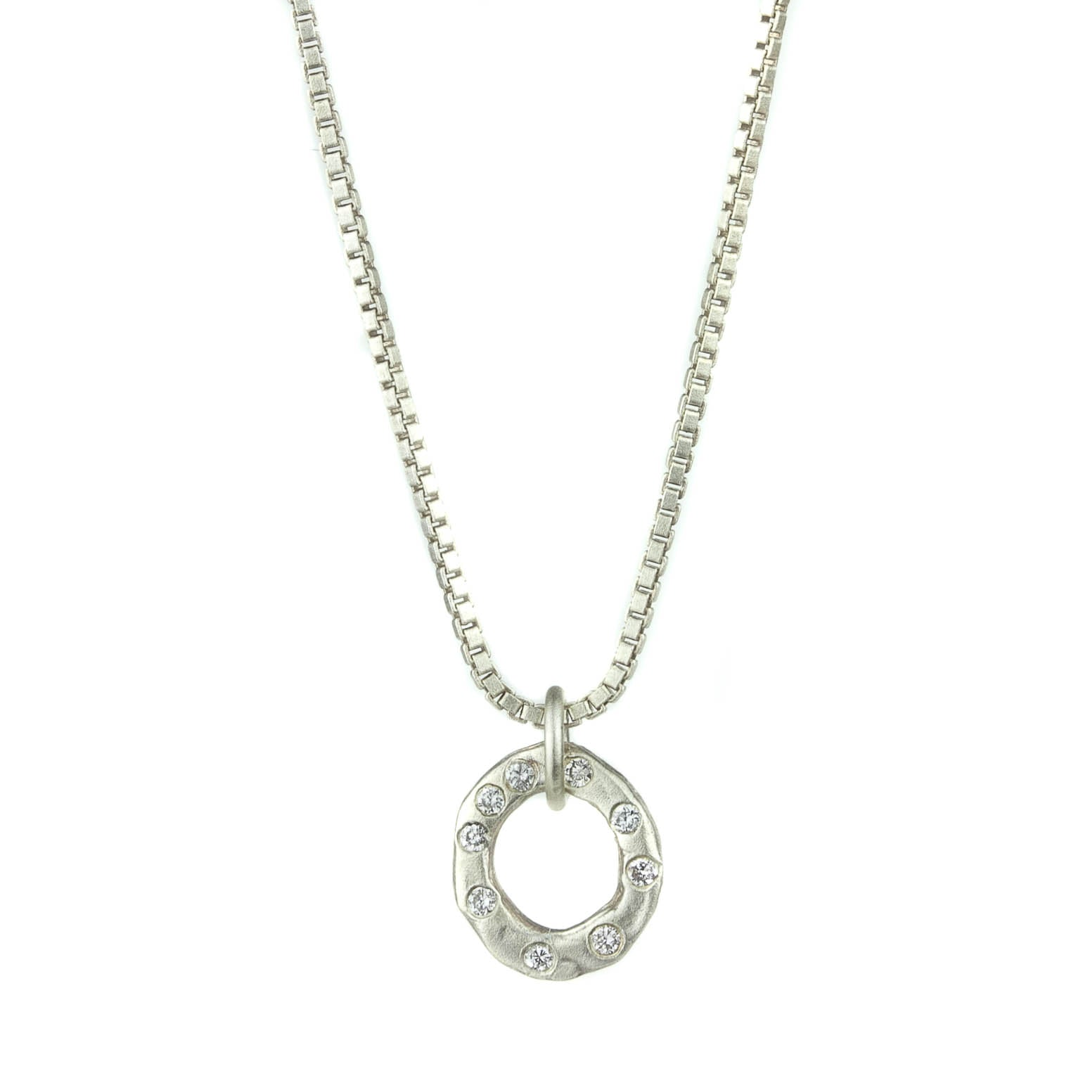 Diamond Wheel Necklace