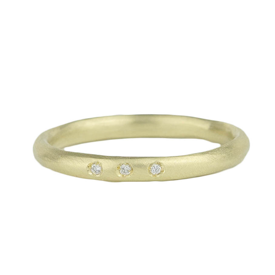 Pod Band w. 3 Diamonds Ring