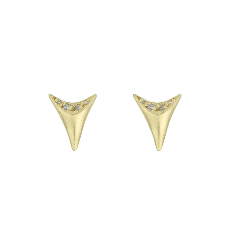 Mini Shark Tooth Post Earrings