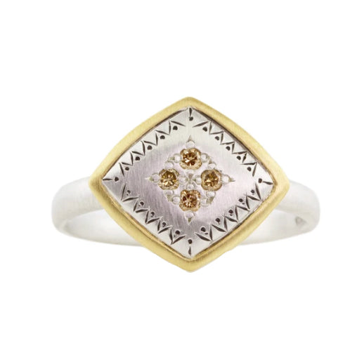 Champagne Diamond Lumiere Ring