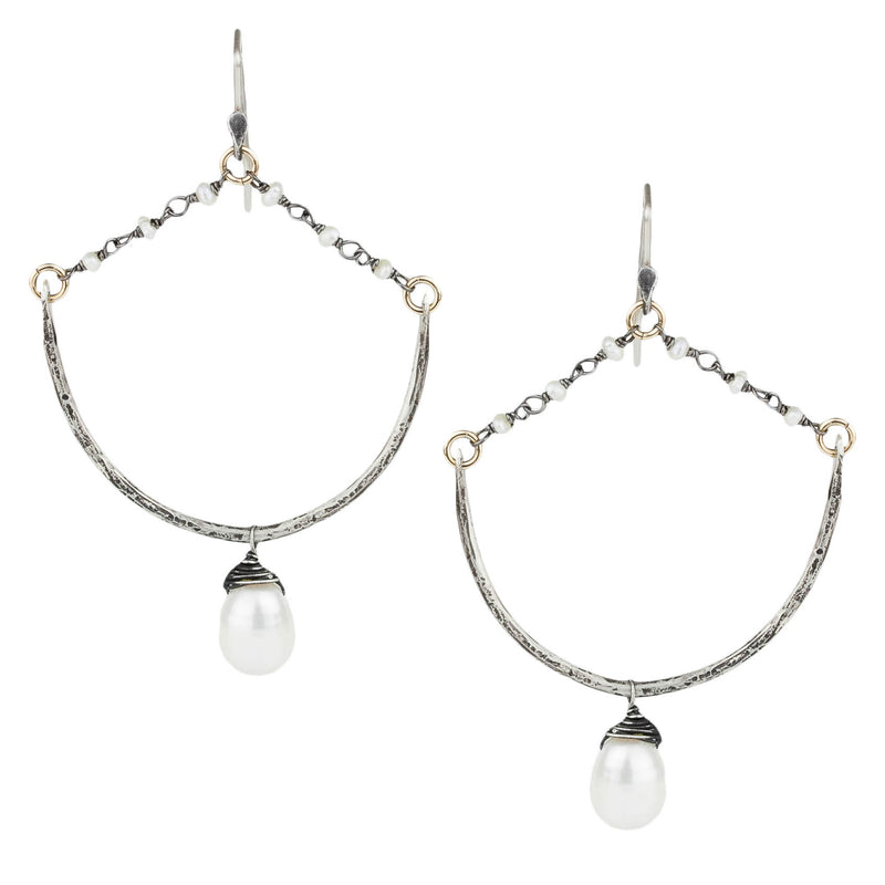 Pearl Rosary Drop Earrings