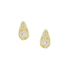 Teardrop Diamond Post Earrings
