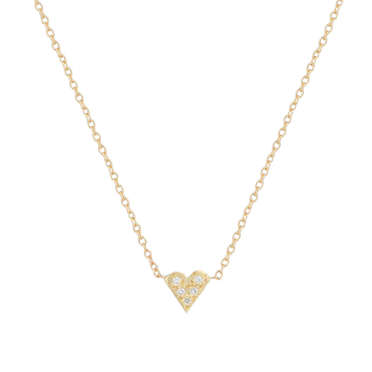 Tiny Pave Heart Necklace