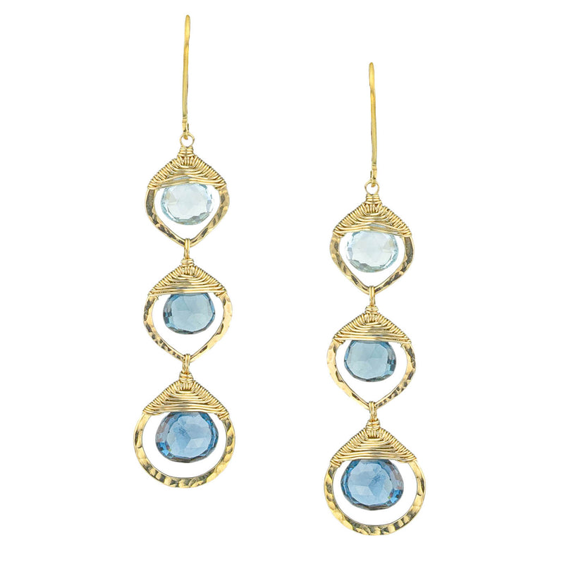 Ombre Blue Topaz Earrings