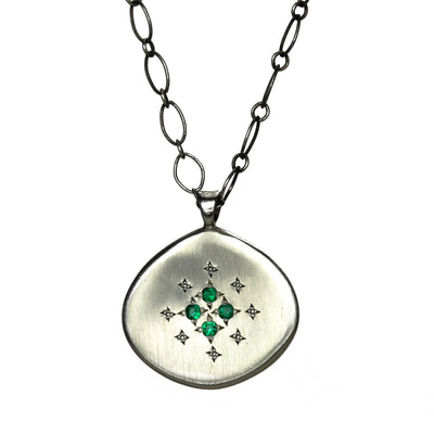 Emerald Star Lights Necklace