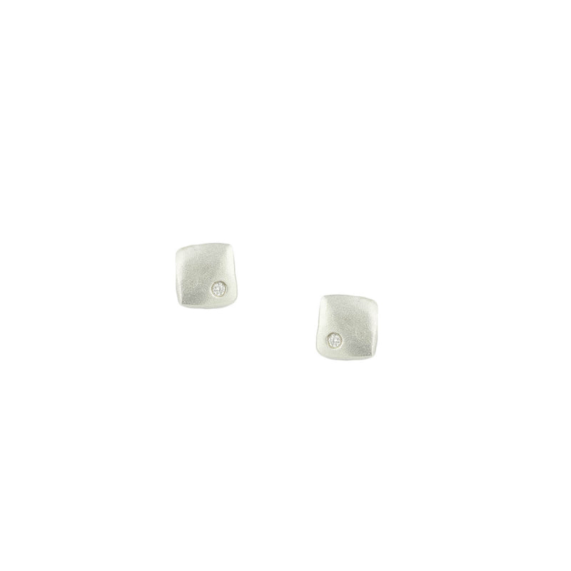 Flat Square Stud Earrings