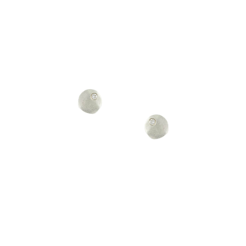 Flat Baby Circle Stud Earrings