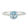 Swiss Blue Topaz + Diamond Ring