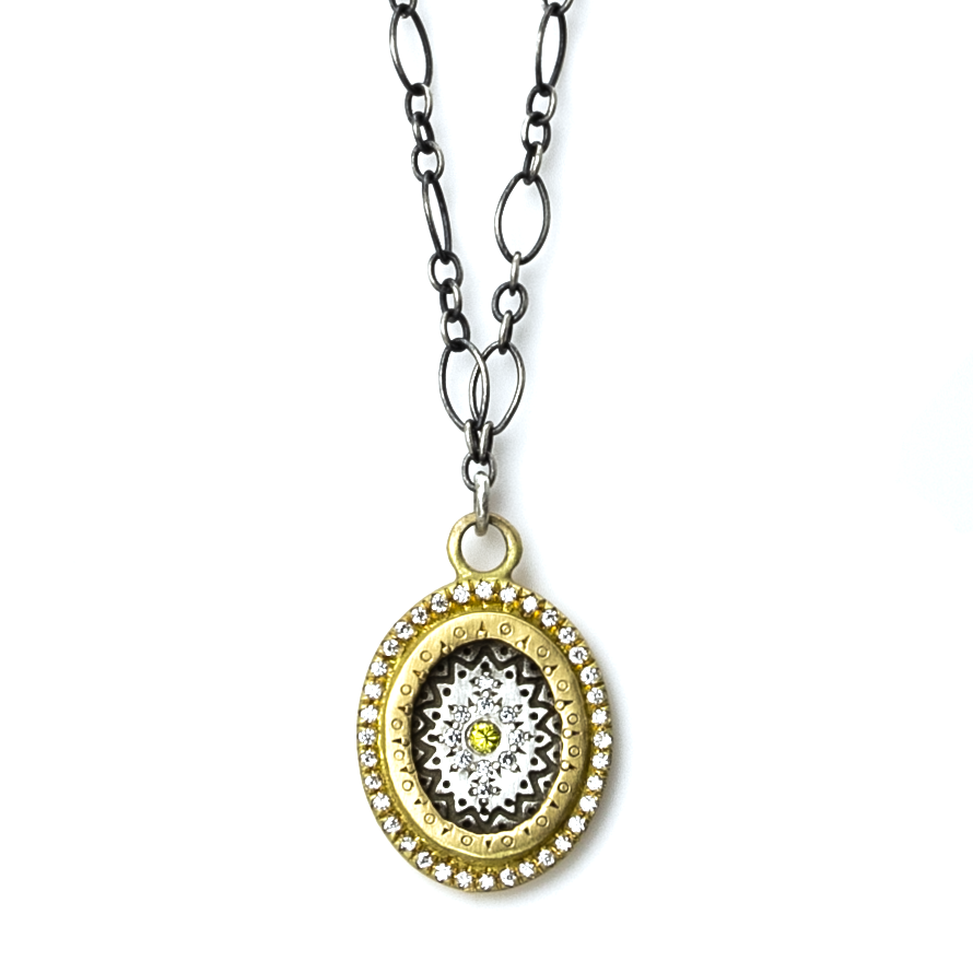Yellow Diamond Flame Necklace