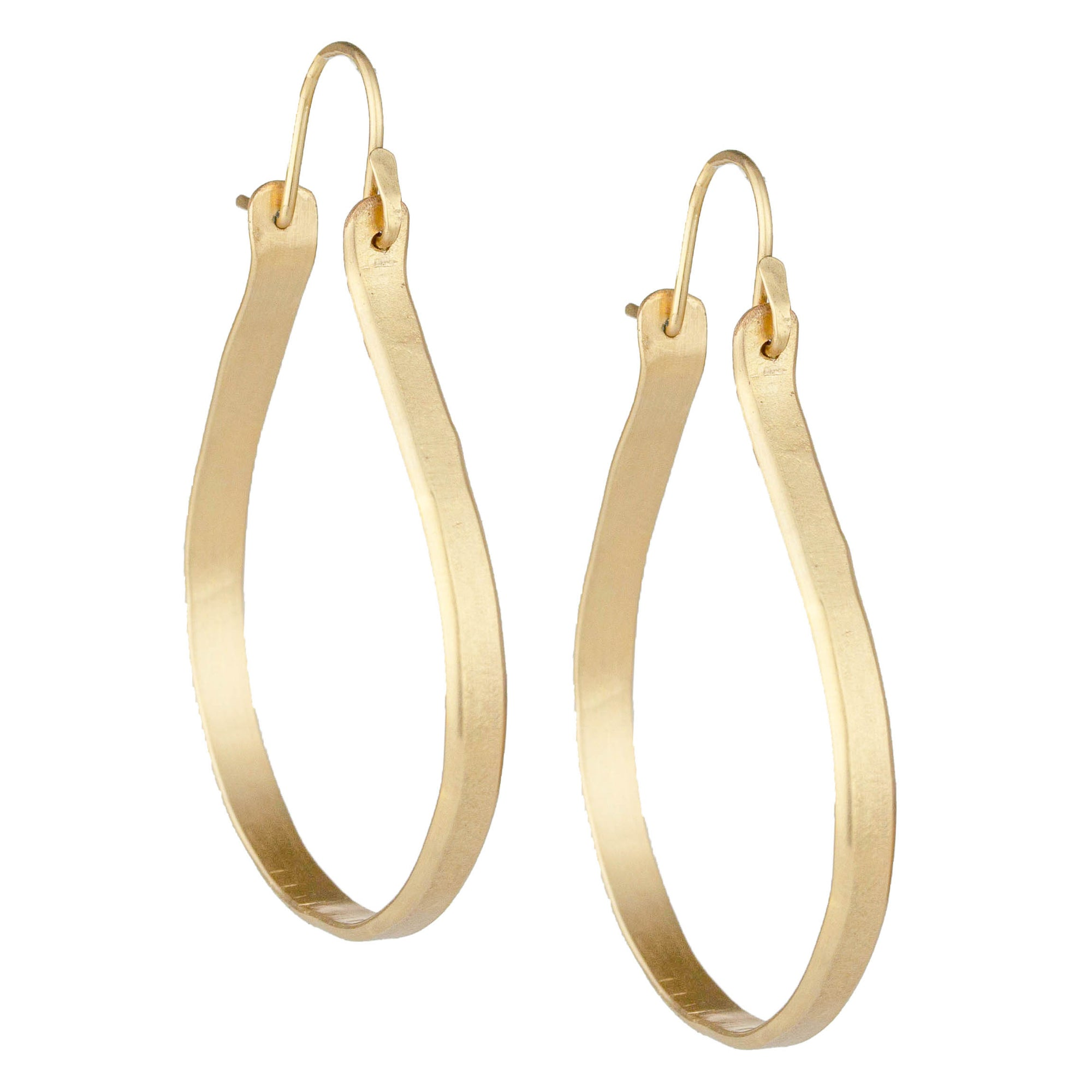 Medium Rain Drop Hoops