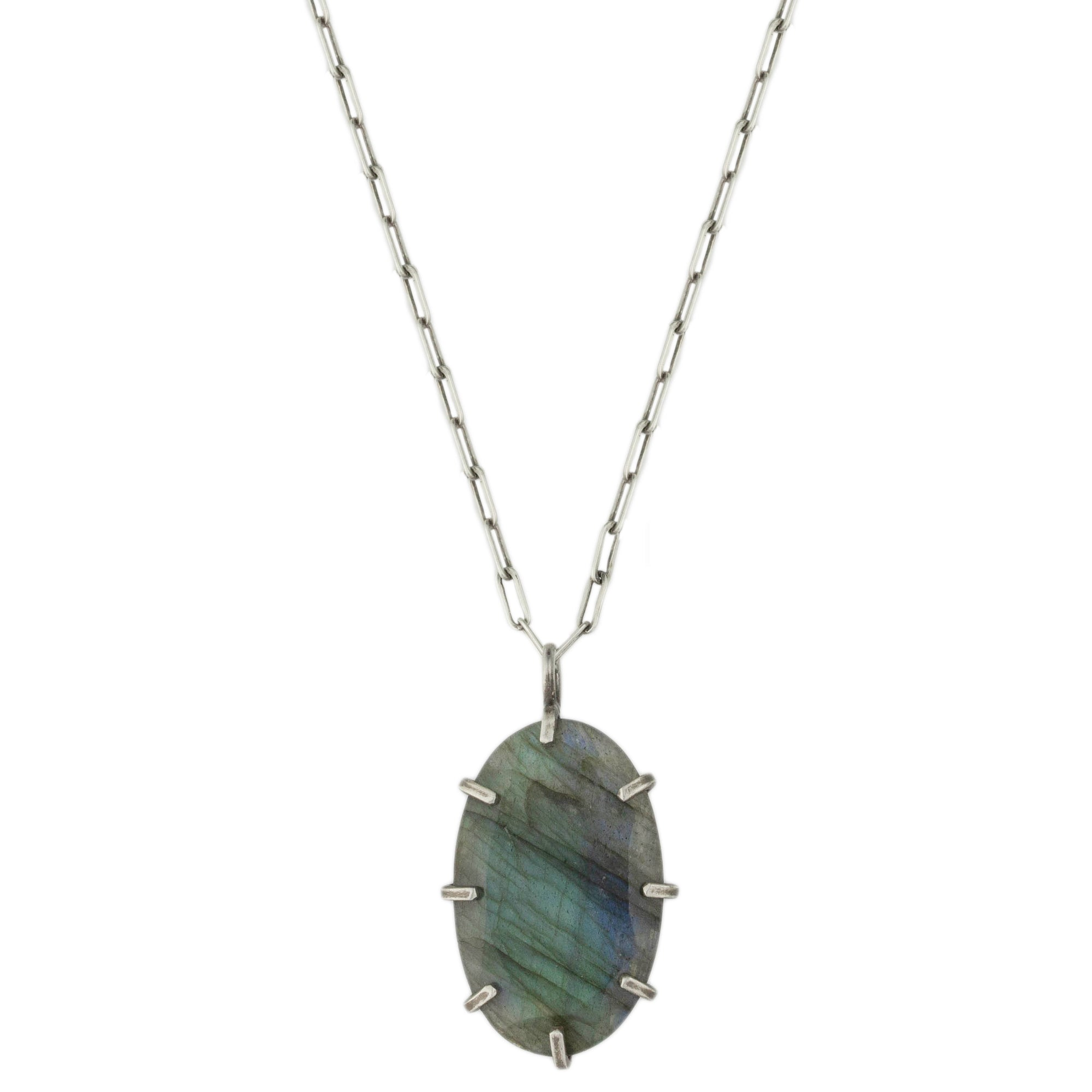 Labradorite Pronged Necklace