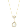 Double Pearl Lariat Necklace