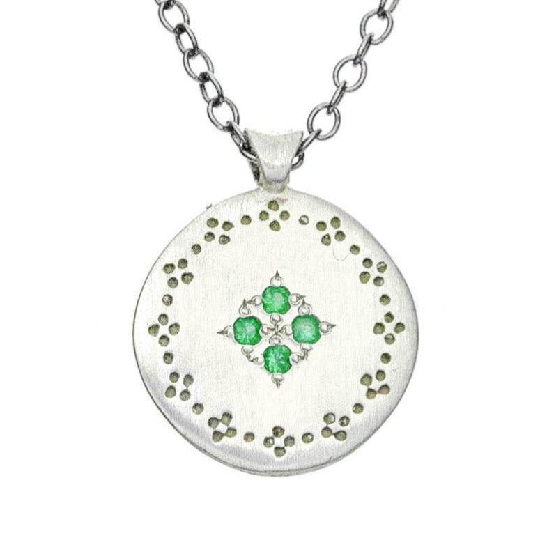 Emerald Four Star Necklace