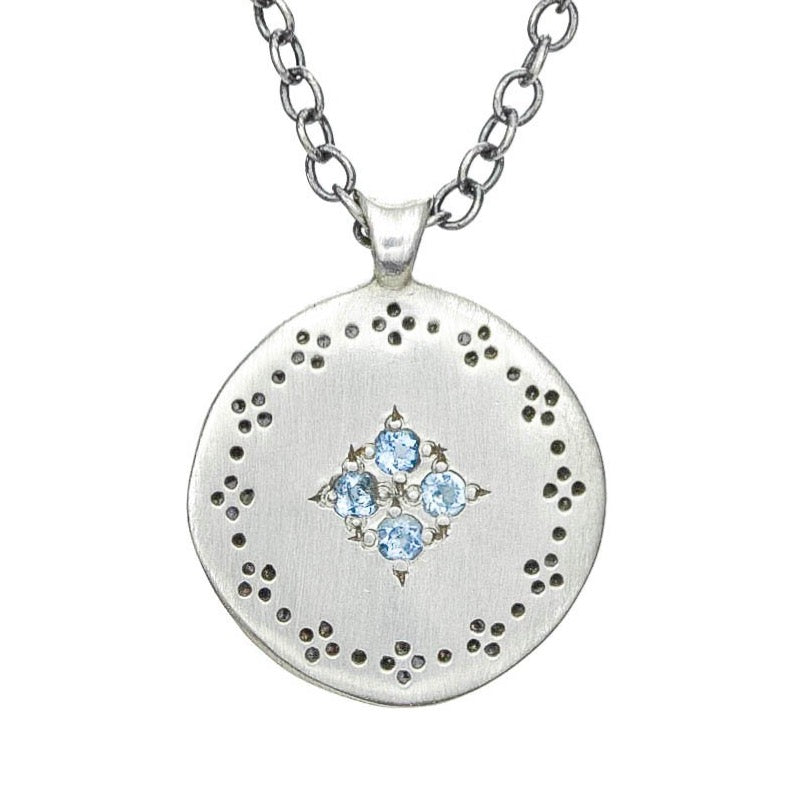 Aquamarine Four Star Necklace