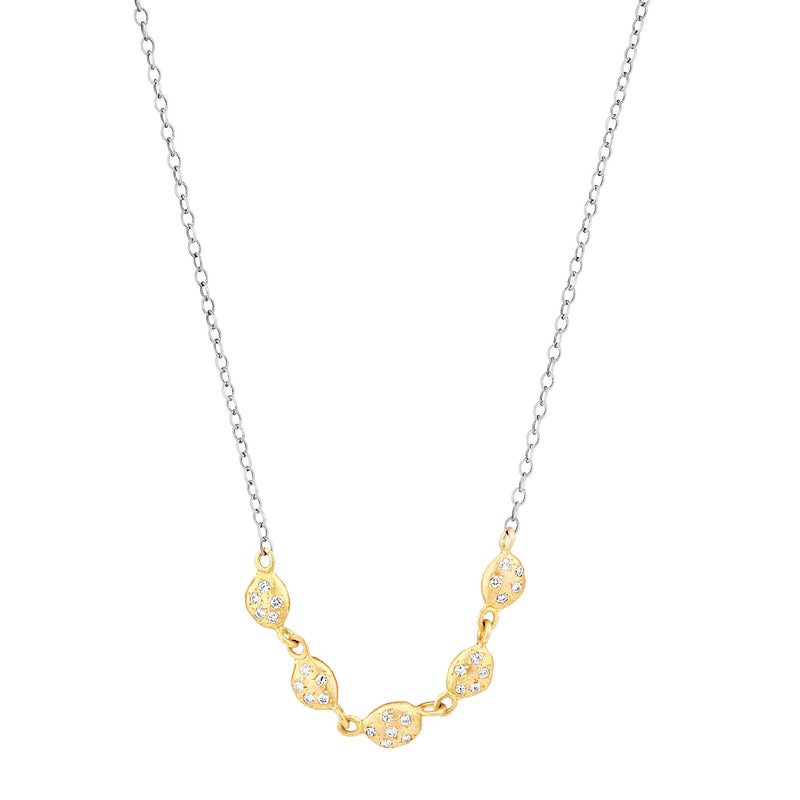 5 Diamond Nugget Necklace