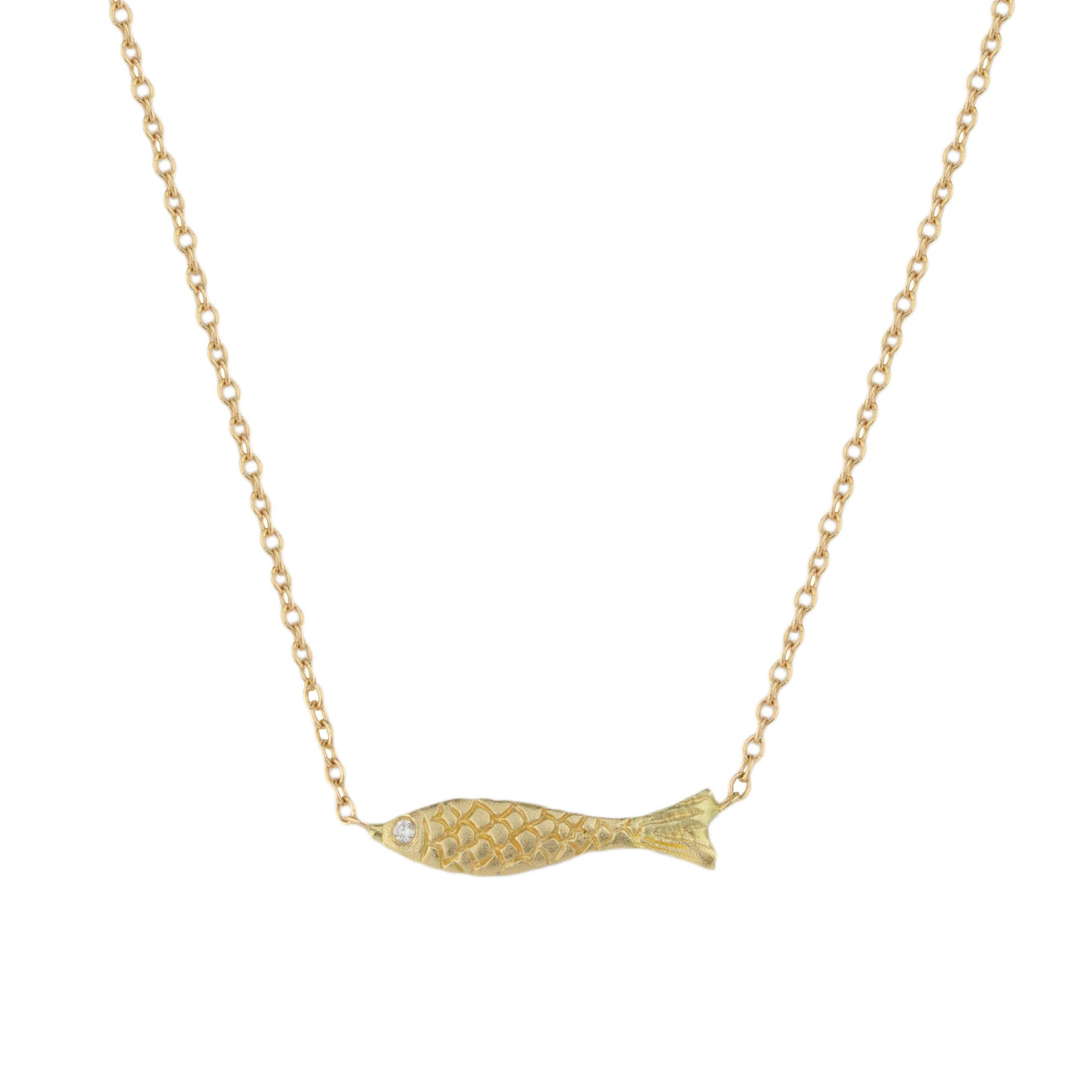 Tiny Swimming Fish Necklace