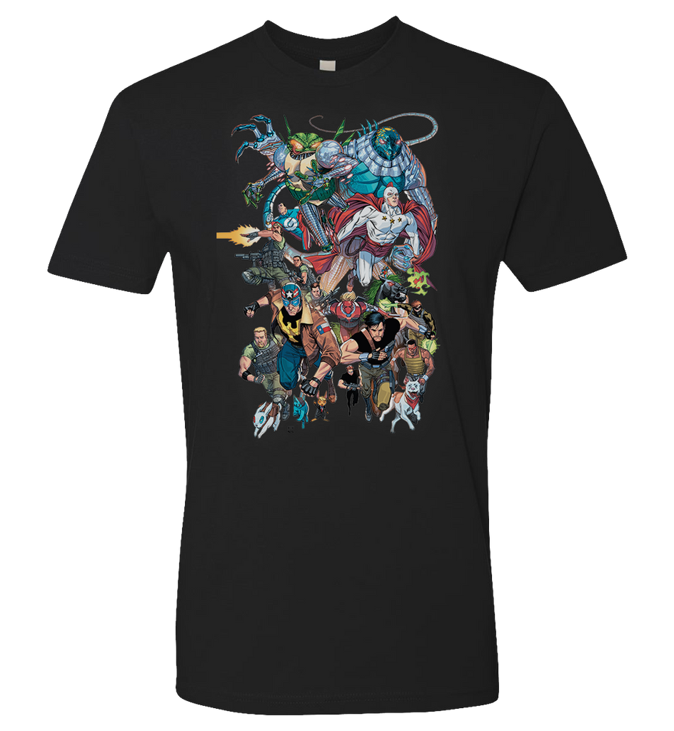 BLACKLIST UNIVERSE -- COMICSGATE ALLIANCE T-Shirt - Blacklist - crypto.fashion - order now