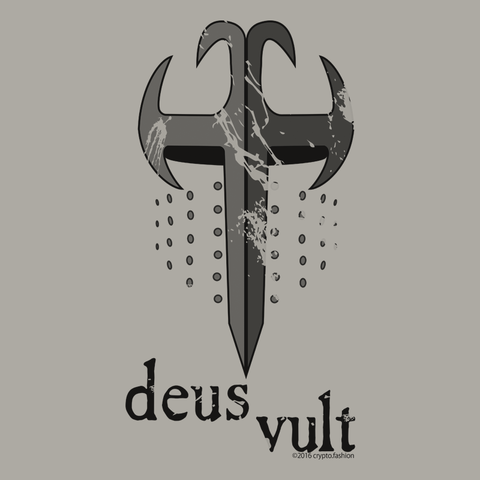 crypto.fashion -- Deus Vult t-shirt, v-neck, hoodie - crypto.fashion