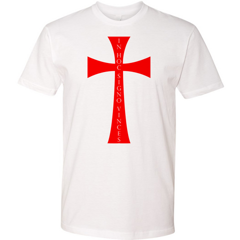 Men of the West In Hoc Signo Vinces Templar Cross Tee - crypto.fashion