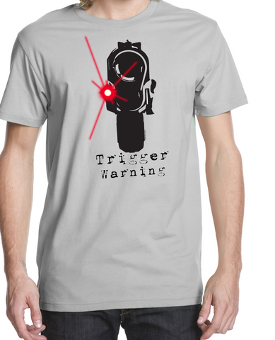 trigger warning t-shirt/vneck CLOSEOUT! - crypto.fashion - crypto.fashion - order now